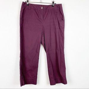 Ann Taylor Plum Capris Pants 8P